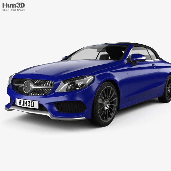 Mercedes benz c class a205 convertible amg line 2016 3d for Mercedes benz c class models