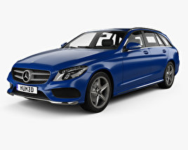 Mercedes-Benz C-Class (S205) estate AMG line 2014 3D model