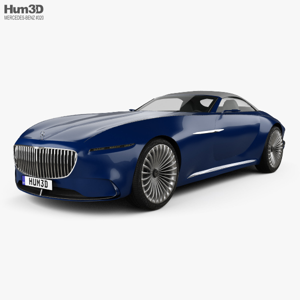 mercedes-benz vision maybach 6 cabriolet 2017 3d model - vehicles on