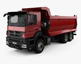 Mercedes-Benz Axor Tipper Truck with HQ interior 2005 3D model