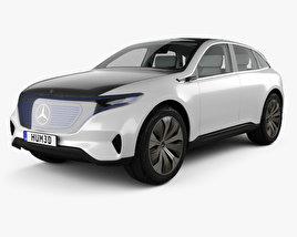 Mercedes-Benz EQ concept with HQ interior 2017 3D model