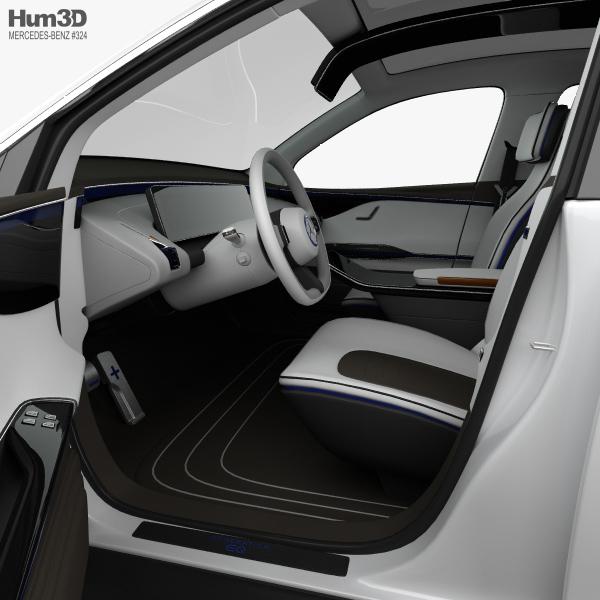 mercedes benz eq concept with hq interior 2017 3d model. Black Bedroom Furniture Sets. Home Design Ideas