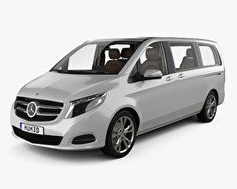 Mercedes-Benz V-class with HQ interior 2014 3D model