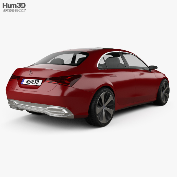 Mercedes benz a sedan 2017 3d model hum3d for Mercedes benz sedan models