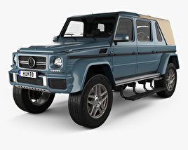 Mercedes-Benz G-class (W463) Maybach Landaulet with HQ interior 2017 3D model