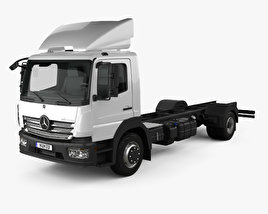 Mercedes-Benz Atego (1530) M-Cab Chassis Truck 2013 3D model