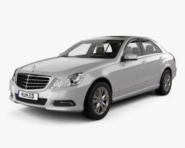 Mercedes-Benz E-class sedan with HQ interior 2010 3D model
