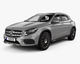 Mercedes-Benz GLA-class AMG Line with HQ interior 2017 3D model