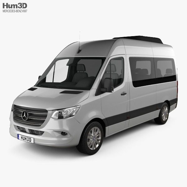 Beste Mercedes-Benz Sprinter (W907) Passenger Van L2H2 2019 3D model GG-83