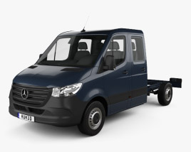 Mercedes-Benz Sprinter (W907) Crew Cab Chassis L2 2019 3D model