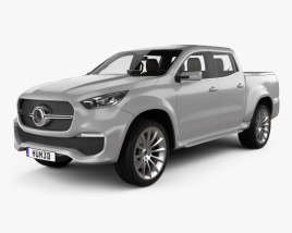 Mercedes-Benz X-class Stylish Explorer with HQ interior 2017 3D model