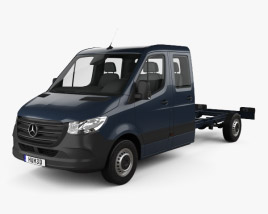 Mercedes-Benz Sprinter (W907) Crew Cab Chassis L3 2019 3D model