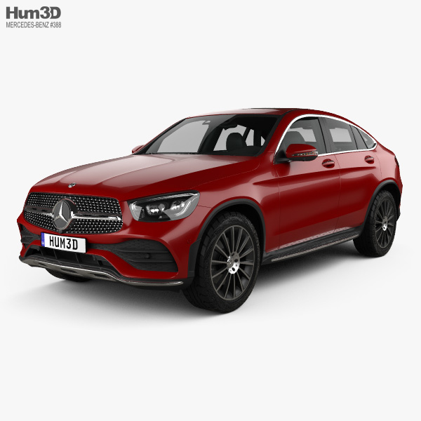 Mercedes-Benz GLC-class AMG-Line Coupe 2019 3D Model