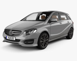 Mercedes-Benz B-class Urban Line with HQ interior 2014 3D model