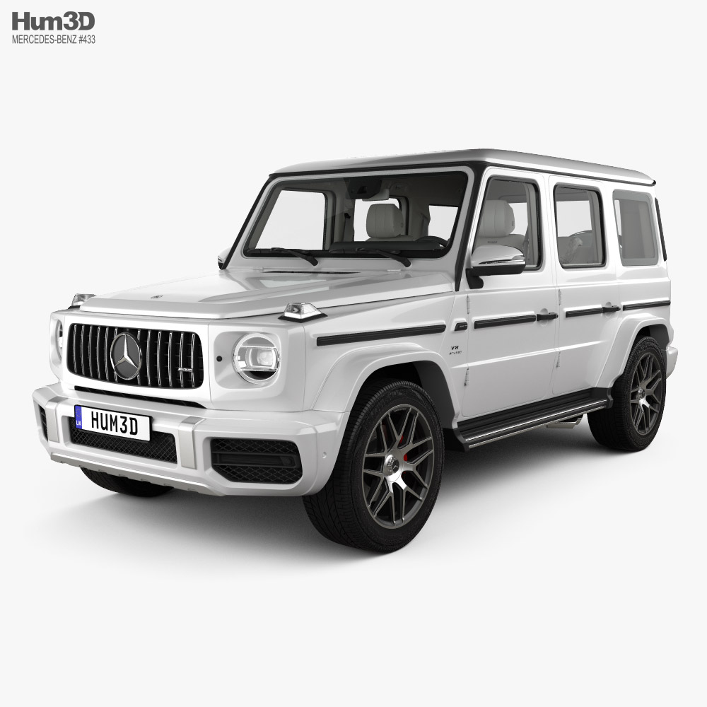 Mercedes-Benz G-class (W463) AMG with HQ interior 2019 3d model