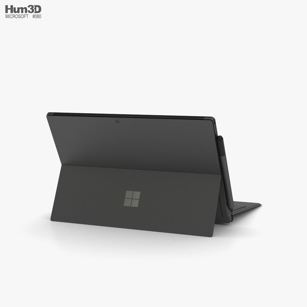 Microsoft Surface Pro 7 Black 3d model
