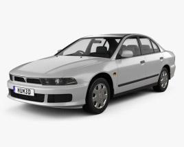 Mitsubishi Galant sedan 1996 3D model