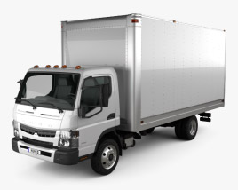 Mitsubishi Fuso Box Truck 2013 3D model