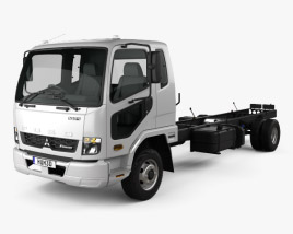 Mitsubishi Fuso Heavy Chassis Truck 2017 3D model