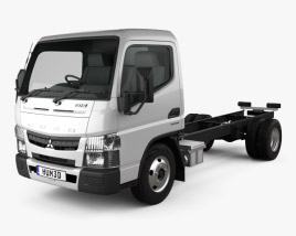 Mitsubishi Fuso Canter 515 Superlow City Cab Chassis Truck 2016 3D model