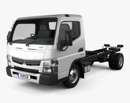 Mitsubishi Fuso Canter 515 Wide Single Cab Chassis Truck 2016 3D model