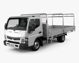 Mitsubishi Fuso Canter 515 Wide Single Cab Alloy Tray Truck 2016 3D model