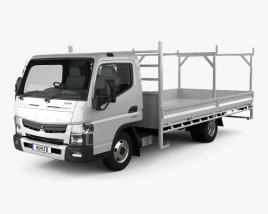 Mitsubishi Fuso Canter 515 Wide Single Cab Tradies Truck 2016 3D model