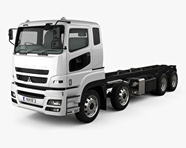 Mitsubishi Fuso Heavy Chassis Truck with HQ interior 2017 3D model
