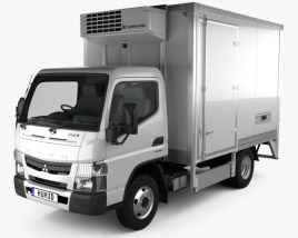 Mitsubishi Fuso Canter City Cab Refrigerator Truck 2016 3D model