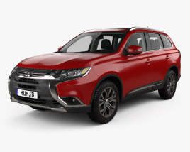Mitsubishi Outlander GT with HQ interior 2015 3D model