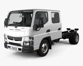 Mitsubishi Fuso Canter (515) City Crew Cab Chassis Truck with HQ interior 2016 3D model