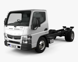 Mitsubishi Fuso Canter (515) City Single Cab Low Roof Chassis Truck 2016 3D model