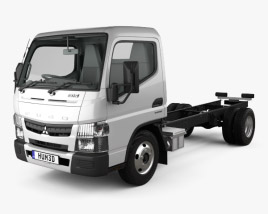 Mitsubishi Fuso Canter (515) Super Low City Cab Chassis Truck with HQ interior 2016 3D model