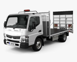Mitsubishi Fuso Canter (815) Wide Single Cab Tilt Tray Beaver Tail Truck 2016 3D model