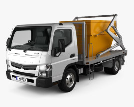 Mitsubishi Fuso Canter (918) Wide Single Cab Skip Bin Truck 2016 3D model
