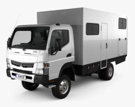 Mitsubishi Fuso Canter (FG) Wide Single Cab Camper Truck 2016 3D model