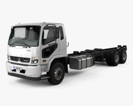 Mitsubishi Fuso Fighter (2427) Chassis Truck with HQ interior 2017 3D model