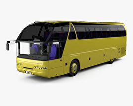 Neoplan Starliner N 516 SHD Bus with HQ interior 1995 3D model