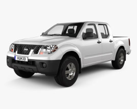 Nissan Frontier Crew Cab Short Bed 2012 3D model