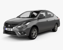 Nissan Versa Sense with HQ interior 2015 3D model