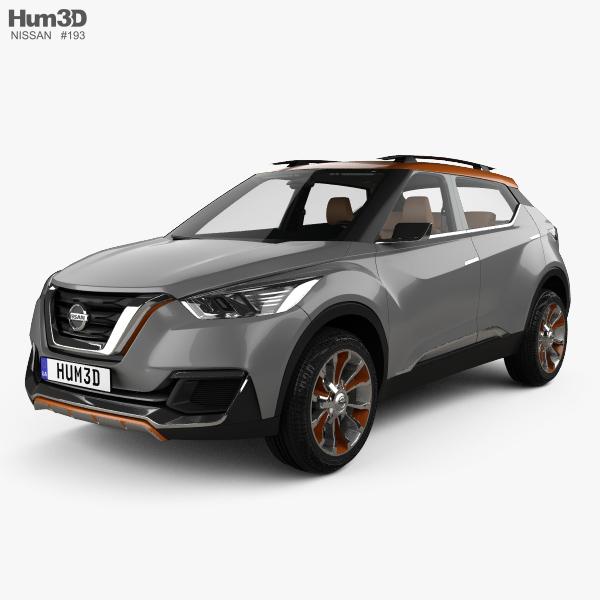 2014 Nissan Sentra Interior: Nissan Kicks Concept With HQ Interior 2014 3D Model