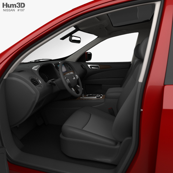 ... Nissan Pathfinder With HQ Interior 2017 3d Model ...