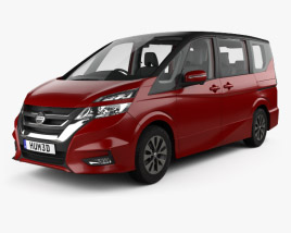 Nissan Serena Highway Star with HQ interior 2016 3D model