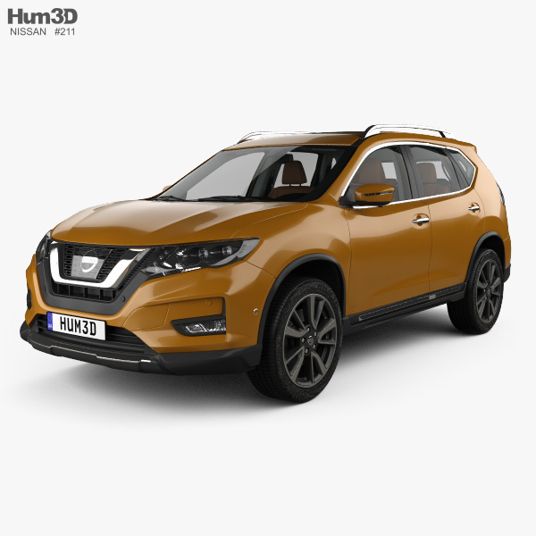 nissan x trail with hq interior 2017 3d model vehicles. Black Bedroom Furniture Sets. Home Design Ideas
