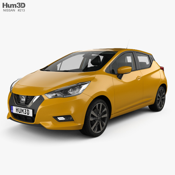 nissan micra with hq interior and engine 2016 3d model hum3d. Black Bedroom Furniture Sets. Home Design Ideas