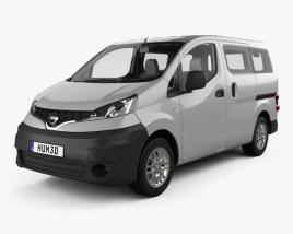 Nissan NV200 combi with HQ interior 2011 3D model