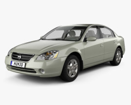 Nissan Altima S with HQ interior 2002 3D model