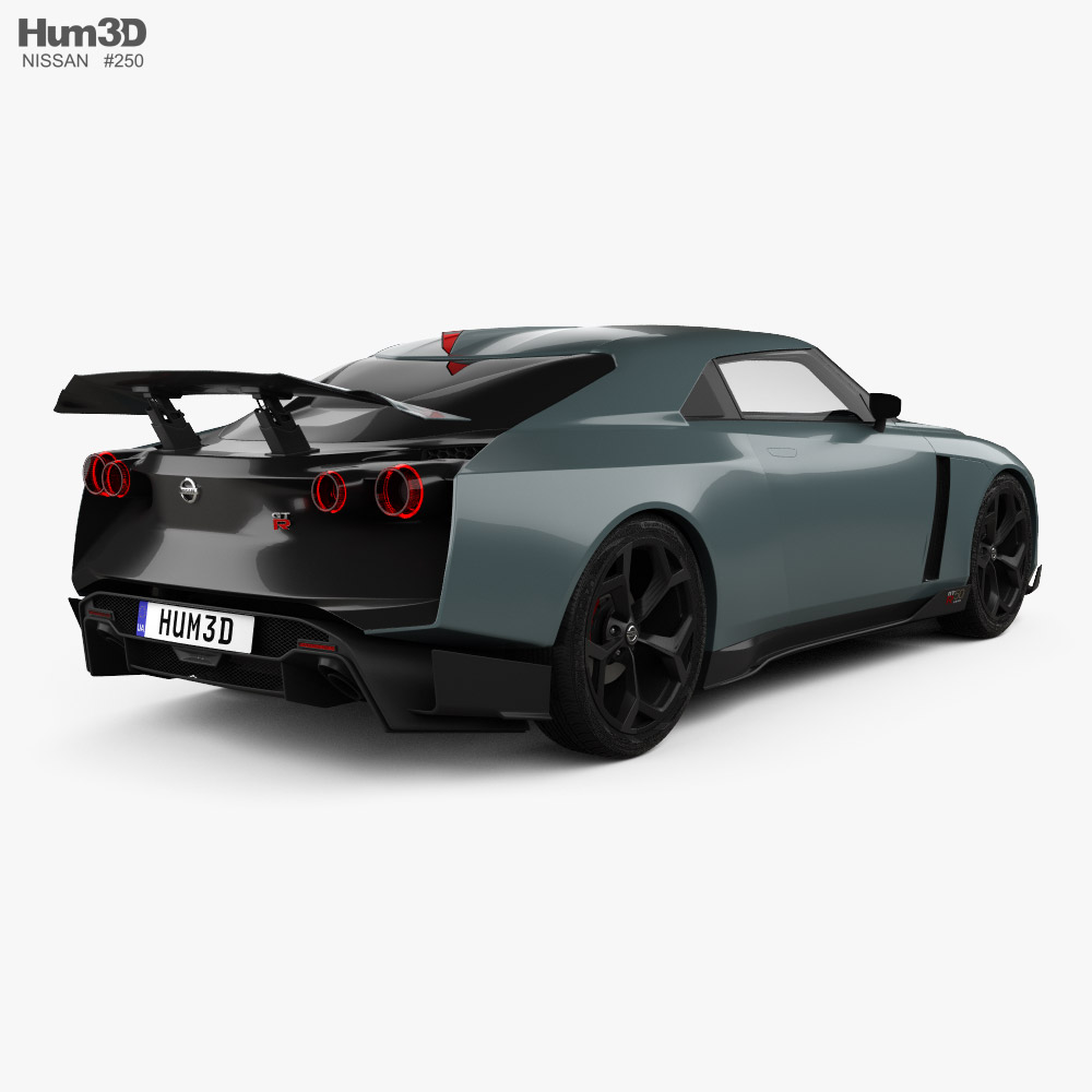 Nissan GT-R50 with HQ interior 2019 3d model