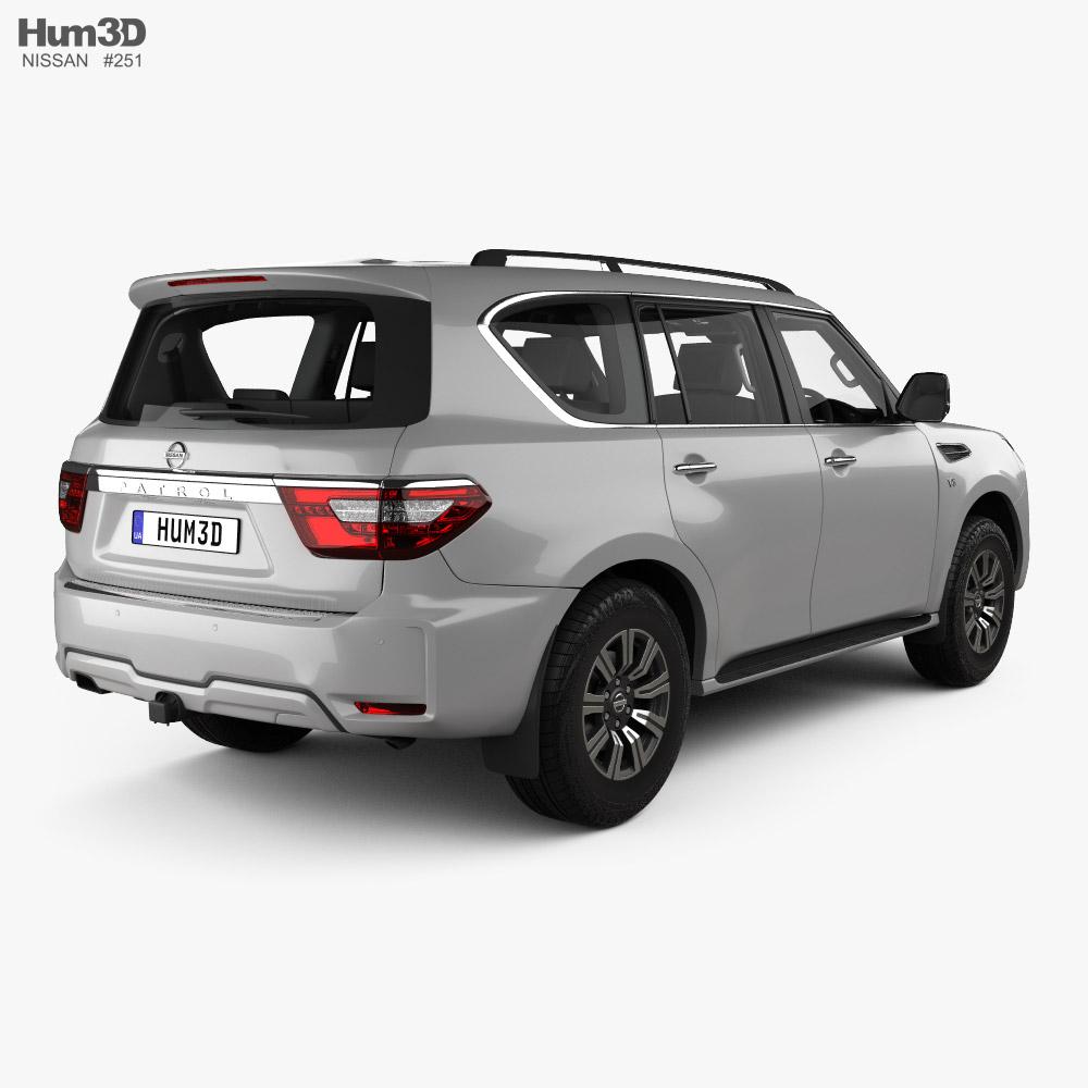 Nissan Patrol Ti L with HQ interior 2020 3d model