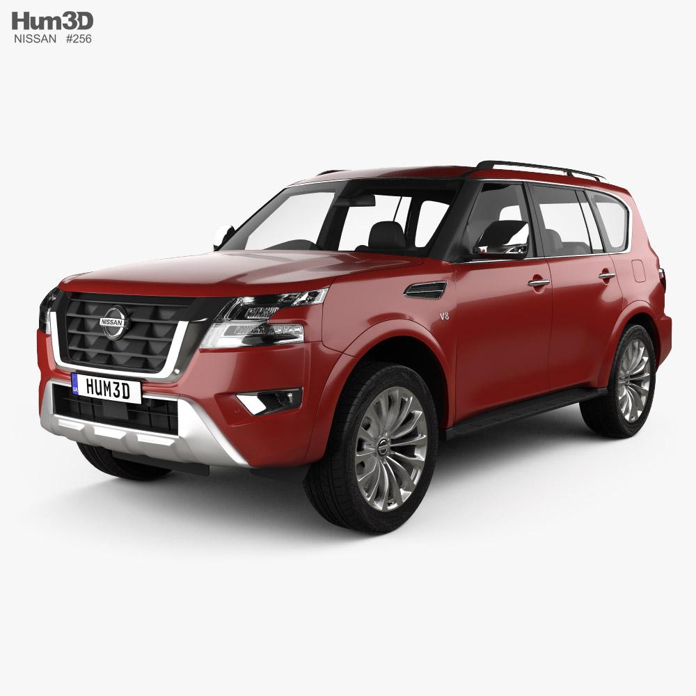 nissan armada 2021 3d model - vehicles on hum3d